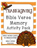 Thanksgiving Bible Verse Memory Scramble Activity KJV