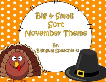 Thanksgiving Big and Small Sort FREEBIE!