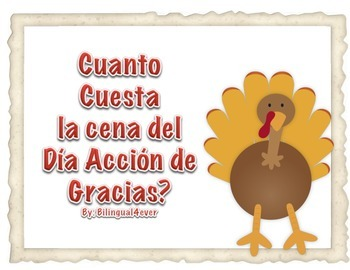 How Much does Thanksgiving Dinner Cost? English/ Spanish