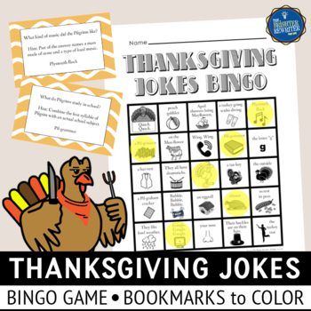 Thanksgiving Jokes Bingo and Bookmarks