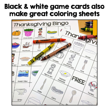 Thanksgiving Bingo - 36 Unique cards in color and black & white