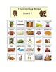 Thanksgiving Bingo - 6 Boards - Words / Clues / Pictures / visuals PDF format