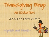 Thanksgiving Bingo-Articulation
