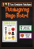 Thanksgiving Bingo Board Game