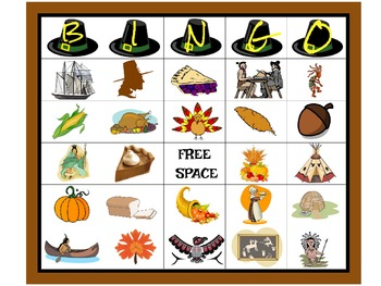 Thanksgiving Bingo Cards with Matching Chips