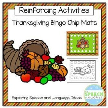 Thanksgiving Bingo Chip Mats