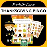 Thanksgiving Bingo- Cute Thanksgiving Themed Bingo Game for Preschool & K-2 kids