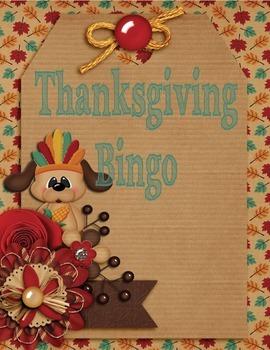 Thanksgiving Bingo Differentiated