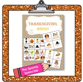 Thanksgiving Bingo - Following Directions and Naming Descr