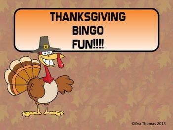 Thanksgiving Bingo Fun!