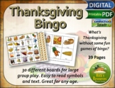 Thanksgiving Bingo Game - Print and Digital Versions