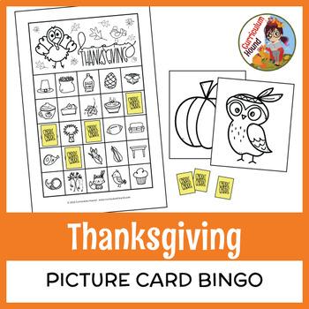 Thanksgiving Bingo Game - Picture Card Bingo