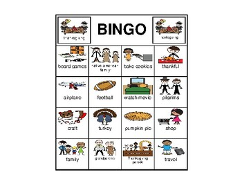 Thanksgiving Bingo Loop Game Smarty Symbols