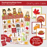 Thanksgiving Bingo & Memory Game, Printable Thanksgiving Game