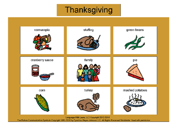 Thanksgiving Bingo! Multiple Boards [speech therapy and autism]