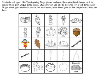 Thanksgiving Bingo- NO PREP!