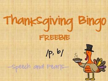Thanksgiving Bingo P and B