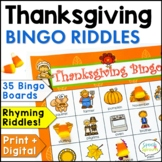 Thanksgiving Bingo Riddles Game