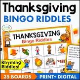 Thanksgiving Bingo Riddles Game