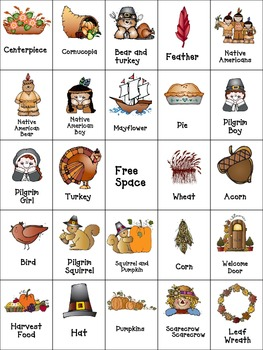 Thanksgiving Bingo Set