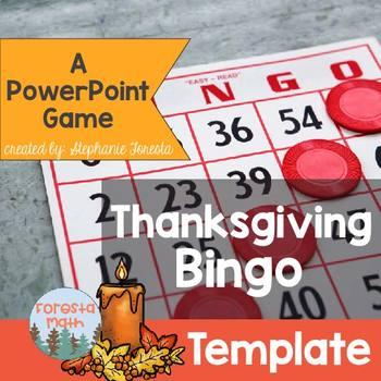 Thanksgiving Bingo Template