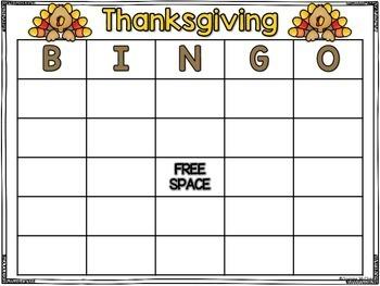 Thanksgiving Bingo-Thanksgiving Themed Bingo Game