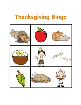 Thanksgiving Bingo and Matching Cards