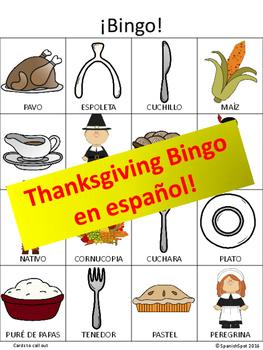 Thanksgiving Bingo in Spanish!