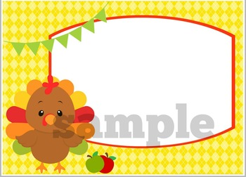 Thanksgiving Blank Task Cards or Notecards