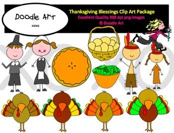 Thanksgiving Blessings Clipart Pack