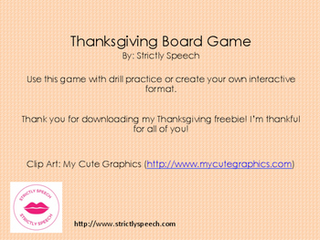 Thanksgiving Board Game Freebie