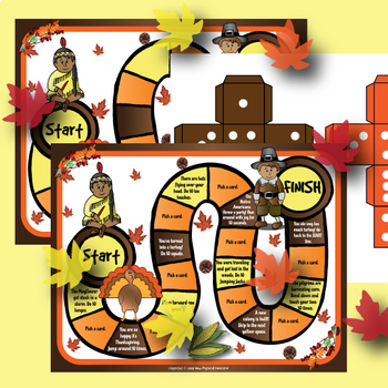 Thanksgiving Board Game for Physical Education, Elementary
