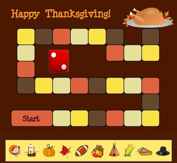 Thanksgiving Board Game for SMART Notebook