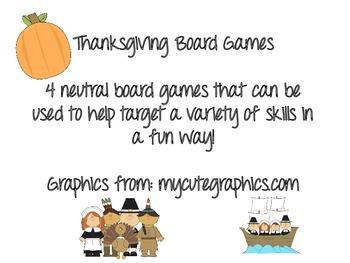 Thanksgiving Board Games