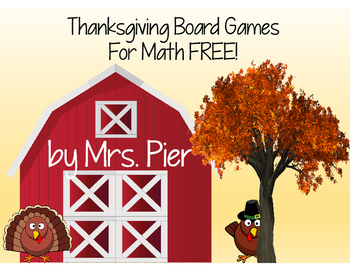 Thanksgiving Board Games For Math