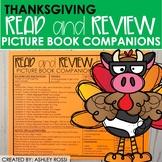 Thanksgiving Book Companions | Speech Therapy | NO PREP Printable + Digital