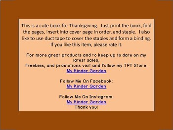 Thanksgiving High Frequency Sight Word Book Gobble Gobble Here and There