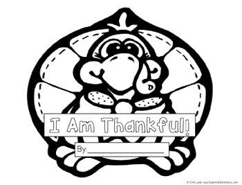 Thanksgiving Book: I Am Thankful Turkey Book!