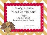 Thanksgiving Activities Book,Pocket Chart,Beginning Sound,