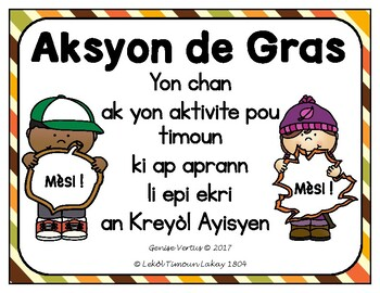 Thanksgiving Book Template in Haitian Creole: I say thank you for...(Haiti)