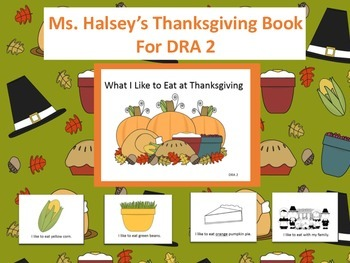 Thanksgiving Book for Emergent Reader with Assessment (Editable)
