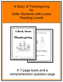 Thanksgiving Book for Older Students With Lower Reading Levels