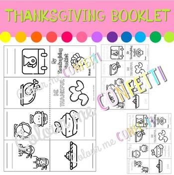 Thanksgiving Booklet - Colour me Confetti