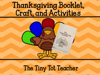 Thanksgiving Booklet, Craft, and Activity
