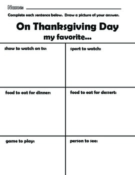 Thanksgiving Booklet * Fun * Counting * Patterns * Writing