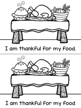 Thanksgiving Booklet: I am thankful