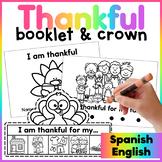 Thanksgiving Booklet Spanish/ Dia de Accion de Gracias