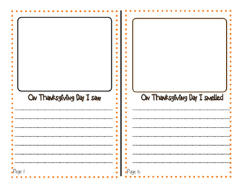 Thanksgiving Booklet Using The 5 Senses - Colored