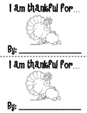 Thanksgiving Booklet