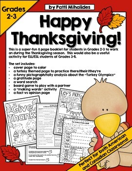 Thanksgiving Workbook / Printables / Activity Pages